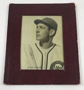 1938 Sawyers Biscuit Framed Photo Augie Galan Chicago Cubs Abt Ex V1