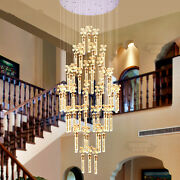 Led Bubble Crystal Pendant Lamp Villa Living Room Stair Light Can Be Customized