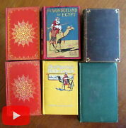 Travel Lot X 6 Old Books India Holy Land Egypt Constantinople Maps Plates Nice