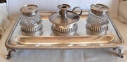 1811 George Iii Sterling Silver Inkwell By Samuel Whitford Ii - 915 Gr Silver