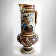 Mettlach Large Beer Pitcher With Ornate Designs - 1895
