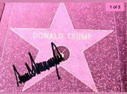 Donald Trump Us President Tv Personality Original Autographed 4 X 6 In. Paper