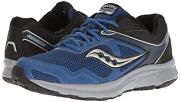 Saucony Grid Cohesion 10 Mens Royal/black Medium And Wide Lace Up Running Shoes