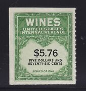 Re202 Vf-xf Wine Revenue Stamp Unused With Nice Color Cv 300 See Pic