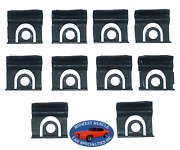 45-90 Gm Front Windshield Rear Window Reveal Moulding Molding Trim Clips 10pc Ss