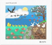 Count The Animals Needlepoint Kit Or Canvas Bunny/eagle/fish/bird/butterfly