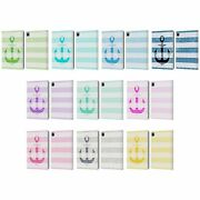 Official Monika Strigel Vintage Anchors Leather Book Wallet Case For Apple Ipad