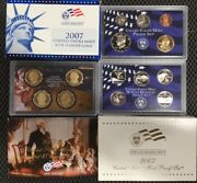 2007 United States Mint Proof 14 Coins Box With Coa Short Print Free Shipping
