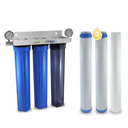 3 Stage 20 Whole House Water Filter Softening Softener System