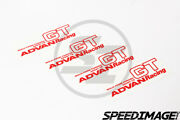 4 X Genuine Advan Gt Spoke Stickers Red 18-20 Inch Replacement Racing Sticker