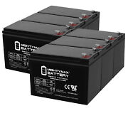Mighty Max 12v 7ah Sla Battery Replacement For Wheels Honda Super Quad - 6 Pack