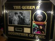 James Brown And Aretha Franklin Godfather And Queen Of Soul Signed Montage Aftal
