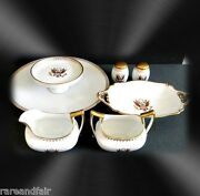 T And V Limoges Dinner Set With Seal Of The United States And Gold Stenciling