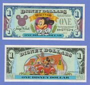 1993 A Disney Dollar Mickey Mouse Castle Back Uncirculated A Series Mickeyand039s 65