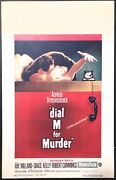 Dial M For Murder 1954 Original Movie Poster Window Card Paper Backed 14x22