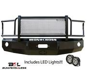 Iron Cross 24-615-03 Front Bumper W/ Leds W/grille Guard For 02-05 Dodge 1500