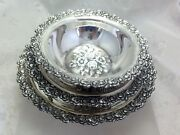 Vintage Sterling Silver Set Candy Nut Bowls Hazorfim Israel 50and039s Collectible