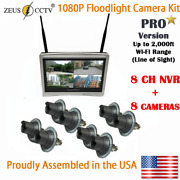 Zeus Cctv Pro Floodlight All-in-one Camera Security Kit With 8ch Nvr + 8 Cams