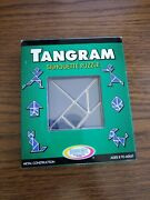 Tangram Metal Silhouette Puzzle With Challenge Booklet 2002 Binary Arts