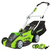 Electric Cordless Lawn Mower Battery Powered Operated Best 40v Mowers Greenworks