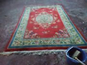 Stunning Oriental Art Deco Antique Chinese Hand Knotted Aubusson Silk Rug 6and039x10and039