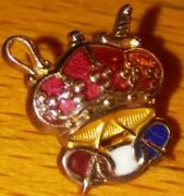 Vintage Odd Fellows Pin 10kt Gold Patriarchs Militant Insignia Ioof Fraternal