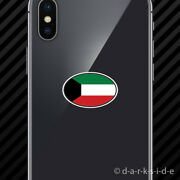 2x Kuwait Oval Cell Phone Sticker Mobile Kuwati Country Code Euro Kw V7