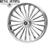 30 Inch Slasher Custom Motorcycle Wheel For Harley Davidson