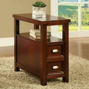 Chairside End Table Sofa Side Tables Small Wood Bedroom Nightstand Narrow Slim