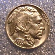 Us Buffalo Nickle Coin 1935 Exceptional Unc Condition