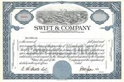 Swift And Company.......abn Specimen Common Stock Certificate