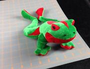 Bj Toy Co Green Red Tree Frog Oriental Fire-bellied Toad Plush Stuffed Animal