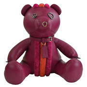 Nwt Coach Collectible Pink Rocky 15 Leather Teddy Bear Decoration
