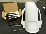 Top Shop 3 Cvo Style Rear Fender Led Taillight And Harness Kit Harley 09-19