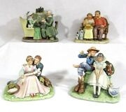 Norman Rockwell Four Ages Of Love Set Of Four Figurines Gorham First Edition
