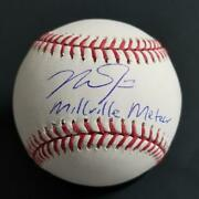 Mike Trout Autograph Millville Meteor Signed Baseball Mlb Auth Hologram Holo