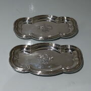 Early 19th Century Antique George Iv Sterling Silver Pair Snuffer Trays Lon 1824