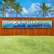 Hand Car Wash And Detail Advertising Vinyl Banner Flag Sign Large Huge Xxl Sizes