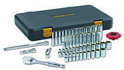 Gearwrench Kd 80300p 51-pc 1/4 Drive Sae/metric 6 Pt Standard And Deep Socket Set