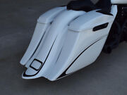 Harley Extended Stretched Saddlebags And Rear Fender Black Death 2014-present