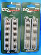 Lot Of 2 - N Scale Kato Unitrack 20-020 Straight Track 124mm 4 Pieces Per Pack
