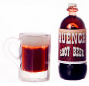 Quench Root Beer Bottle And Mug, Dolls House Miniatures, Food Drink
