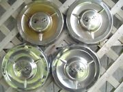 1958 58 Chevy Chevrolet Poverty Wheel Covers Hubcaps Center Caps Antique