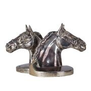 Silver Plated Horse Head Bookends