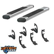 Aries 4444024 6 Polished Oval Tube Side Bars For 99-16 Ford F250/f-350/f-450 Sd