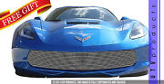 Gtg 2014 - 2019 Chevy Corvette C7 1pc Polished Custom Replacement Billet Grille