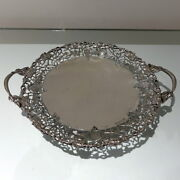 Mid 20th Century Sterling Silver Large Circular Dish/cake Stand Sheffield1961
