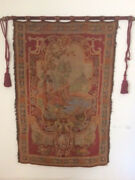 Authentic Antique Belgian Wall Hanging Tapestry Hand Loomed In Belgium 1920