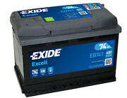 Car Battery Exide Eb741 - 74ah 680a - Range Excell