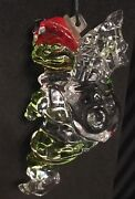 Lenox Crystal Holiday Ornament Up The Chimney